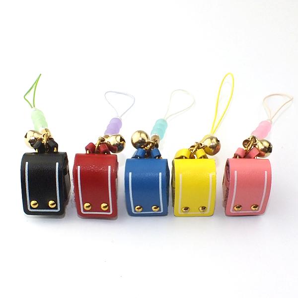 ランドセル守ストラップ 黒|赤|青|黄|ピンク