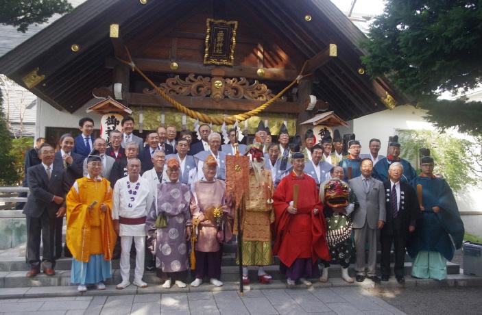 西野神社例祭直後の記念写真