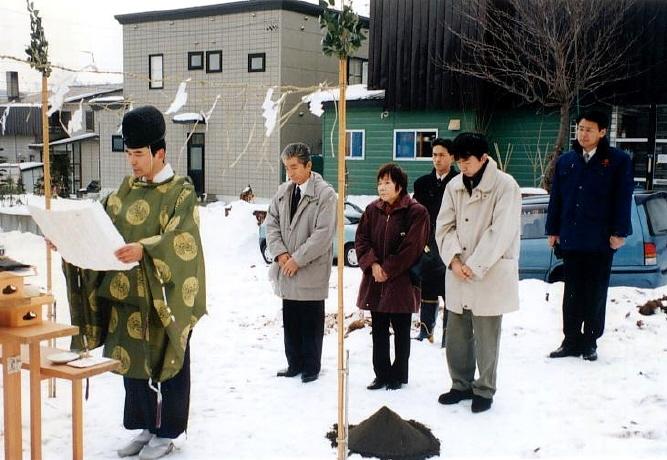 冬季の地鎮祭 祝詞奏上