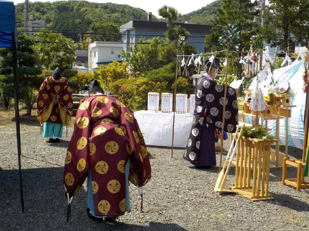 西野神社参集殿 地鎮祭
